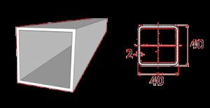 Profil rámu 40x40 mm