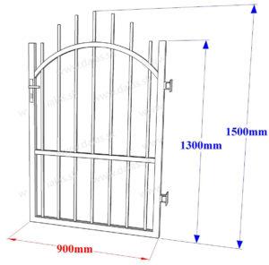 Rozmery kovaná bránka - oblúková