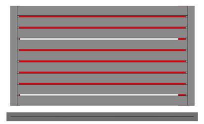 Plochá kovová výplň 100 mm