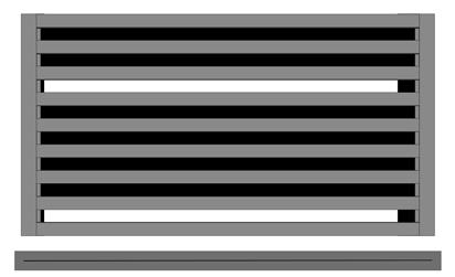 Plochá kovová výplň 60 mm