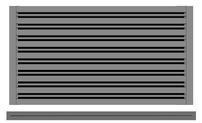 Plochá kovová výplň kombi