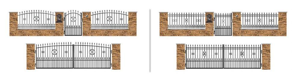 Vzorované kované ploty zplného ajaklového profilu