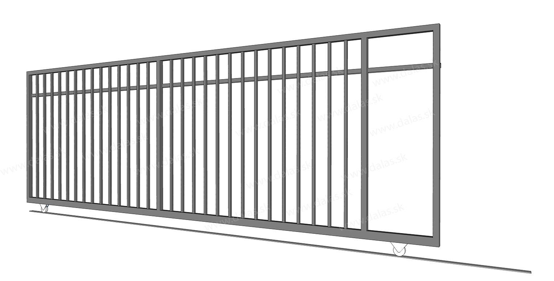 Kovová koľajová brána VERTIKAL