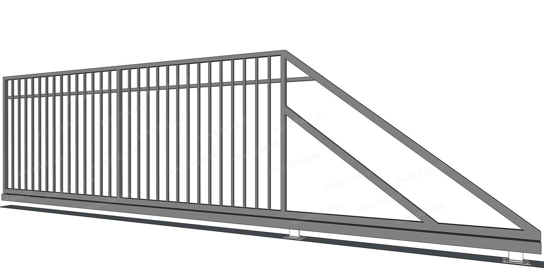 Kovová samonosná brána VERTIKAL