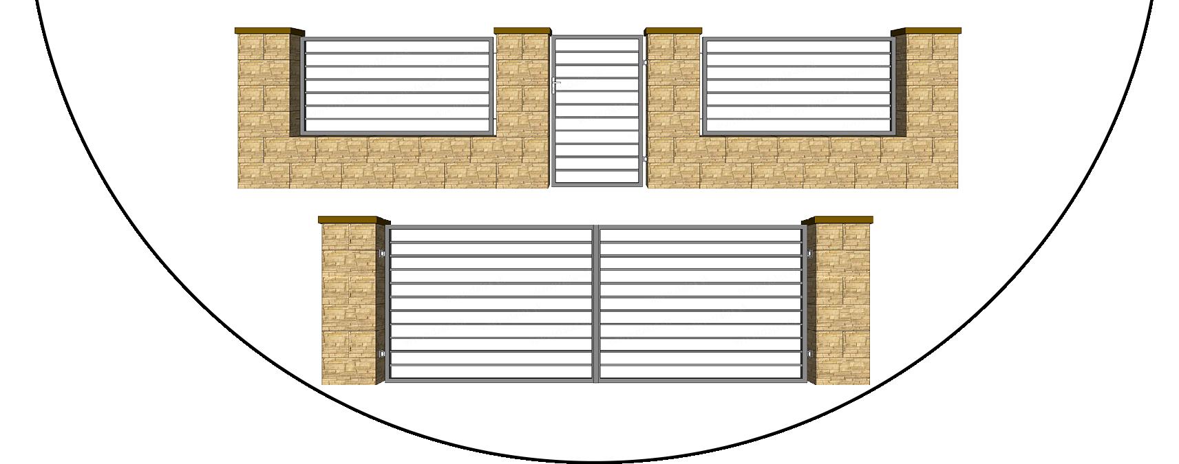Kovový plot HORIZONTAL