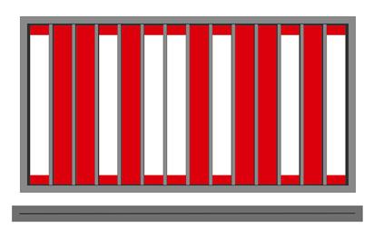 Plochá kovová výplň VERTIKÁL