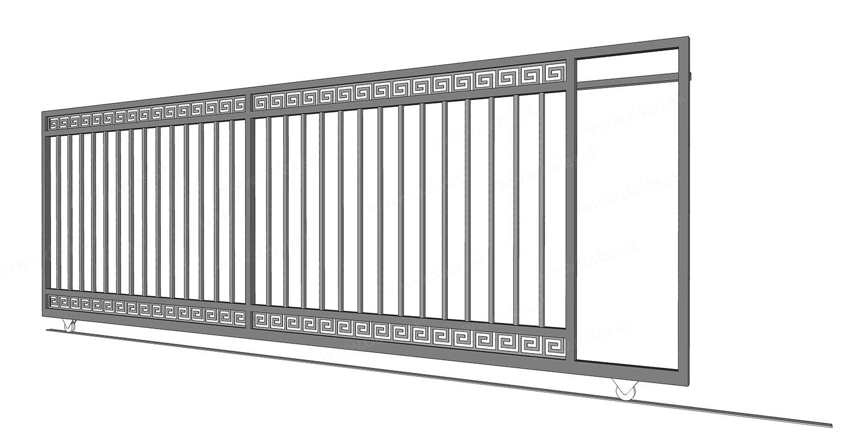 Kovová koľajová brána GRÉCKA