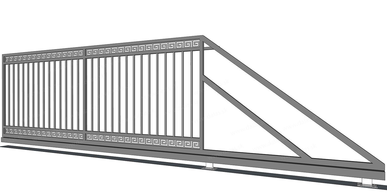 Kovová samonosná brána GRÉCKA