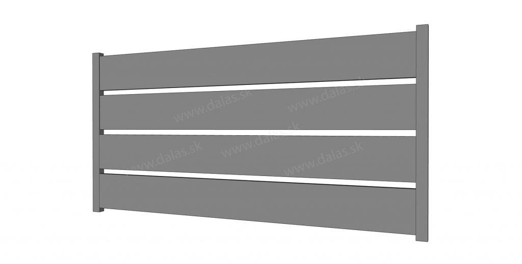 Hliníková bránka prevedenie AL 200
