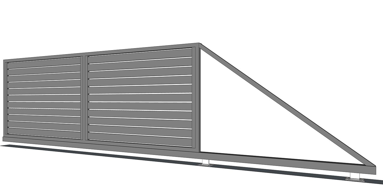 Hliníková samonosná brána prevedenie AL 100