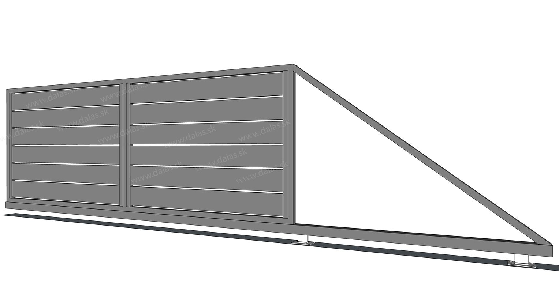 Hliníková samonosná brána prevedenie AL 200