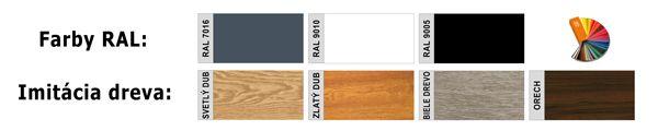 Vzorkovnik farieb RAL pre hliníkové ploty