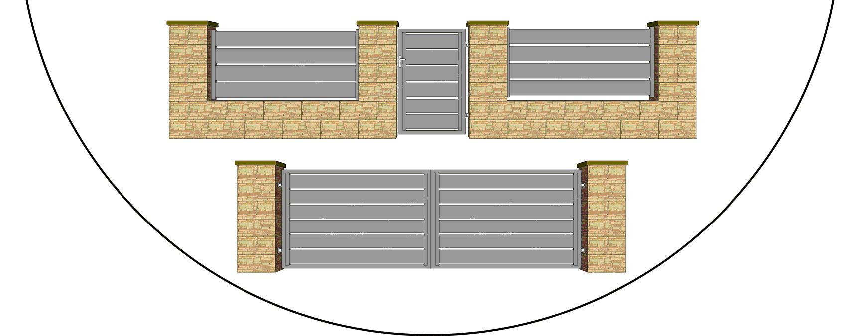 Hliníkový plot model AL 200